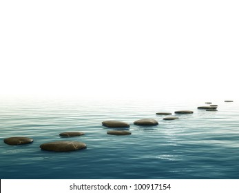 A background image with some nice step stones at the bottom