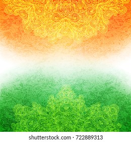 Background for Indian Independence day. illustration of Indian flag theme.