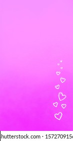 background for instagram stories in 9:16 format in a romantic style for Valentine's day, wedding. White hearts