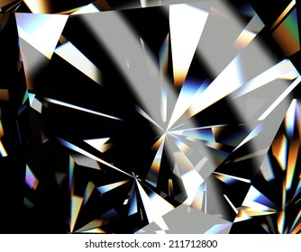 Background of jewelry gemstone. Facet