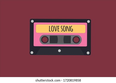 Background of a love song tape