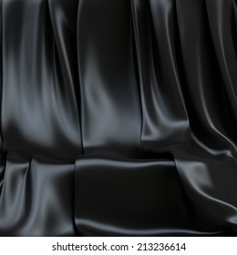 Background made of black cloth for a still-life