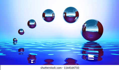 Background with metal balls