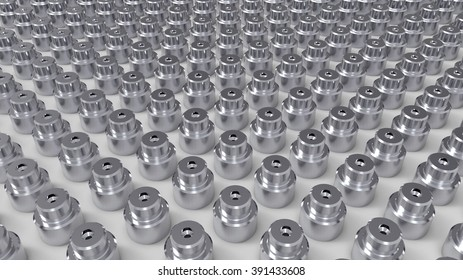 Background of metal parts. operator inspection dimension of cnc turning parts. high precision automotive machining mold