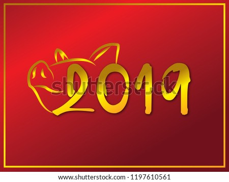 background of new years 2019 pig year