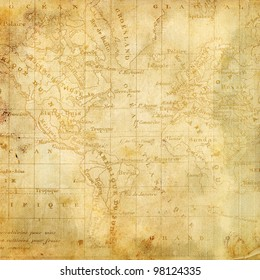 Background with the old map of the Americas. Page to design photo books