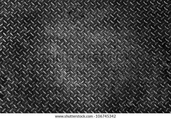 Background Old Metal Diamond Plate Stock Illustration 106745342