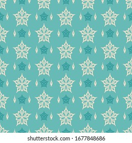 Background pattern, decorative green seamless pattern. Texture Wallpaper for your design.