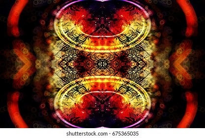 background pattern with filigrane fractal effect structure and circular and eliptical forms.