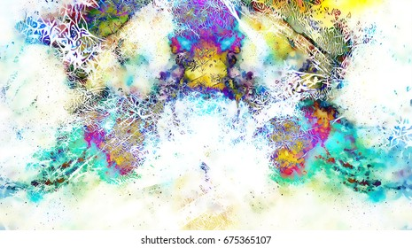 background pattern with fractal needle structures. Winter effect.