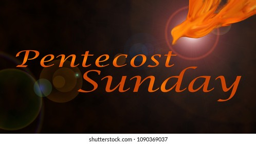 Background for Pentecost Sunday with Holy Spirit Symbol