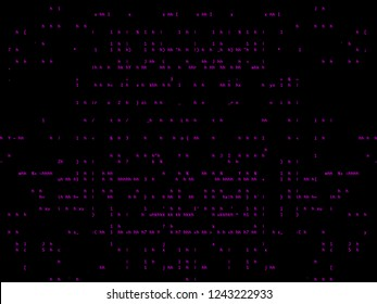 background with pink ASCII letters