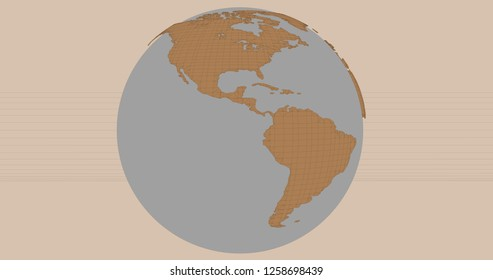 A background of the planet Earth in a cartoonish style, which shows the America continent. 3D Illustration.