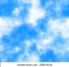 background - seamless texture sky with clouds - for web design