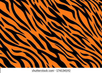 background of seemless tiger stripes pattern