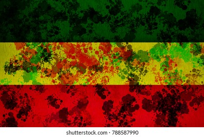 Background of ska reggae pattern marijuana