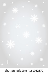 Background snowflakes on silver