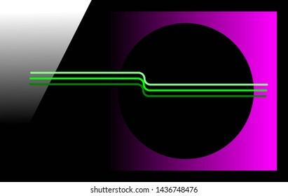 Background suitable for computer desktop. Lines, square, circle and half triangle