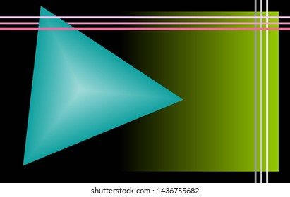 Background suitable for computer desktop. Pyramid, square and lines