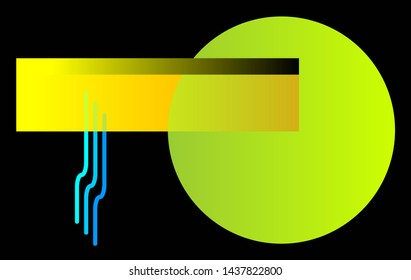 Background suitable for computer desktop. Rectangles, circle and drops