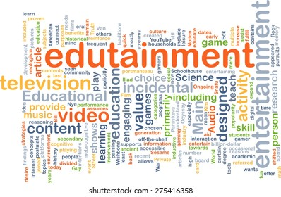 Background text pattern concept wordcloud illustration of edutainment
