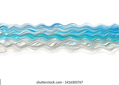 background texture sea ocean waves abstraction blue turquoise 3d