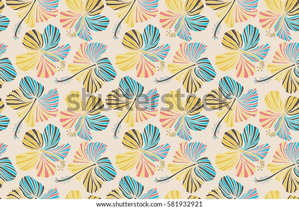 Background texture, wallpaper, floral theme. Abstract ethnic seamless pattern. Tribal art boho print, vintage white flower background.
