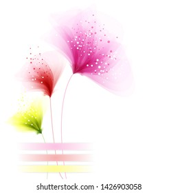 background with tree pastel flowers