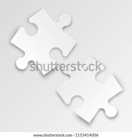 Background two piece puzzle pattern abstrect stock illustration.