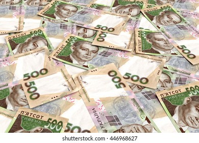 Background from ukrainian money hryvnia. 500 denomination. 3d