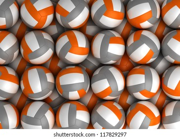 Background with Volleyball (High resolution computer generated image)