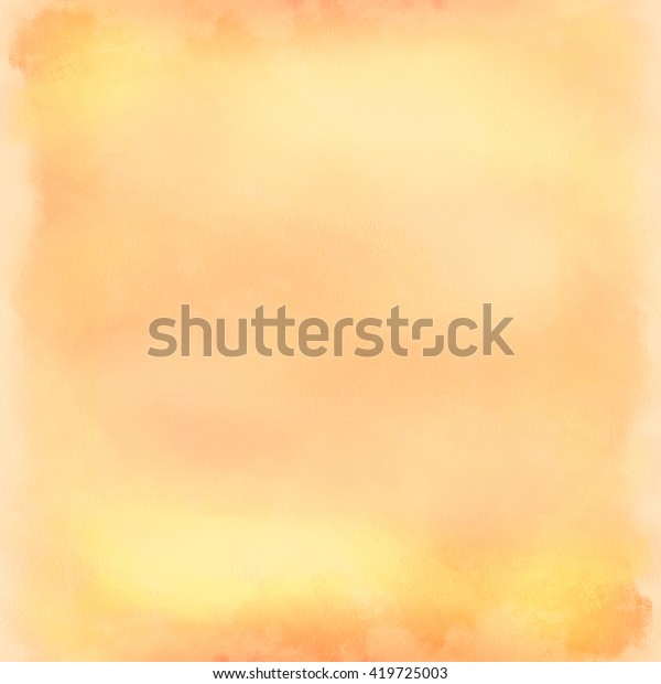 Background  water color, orange. Gentle  background, digital imitation of a water color. A pastel background for design, creation of invitation, greeting and wedding cards, etc.