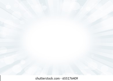 Background white light with bokeh elegant abstract design flair sun rays, sunburst on blue white color. soft design. Summer time blur space of a glowing illustration