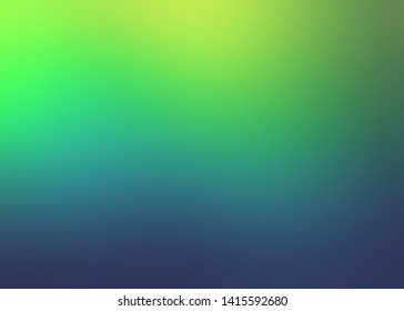 Background wonderful natural colors abstract. Illustration magical outdoor. Pattern green blue yellow vibrant gradient. Texture blur.