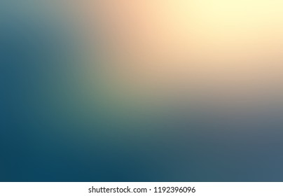 Background yellow green blue ombre. Golden light from above shadows blurred pattern. Mystery natural abstract texture. Defocused illustration.