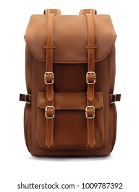 Backpack isolated on white. Realistic 3d illustration