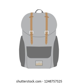 Backpack. Rucksack icon. Travel, school or hiking bag.