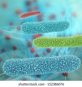 Bacteria - 3d rendered illustration