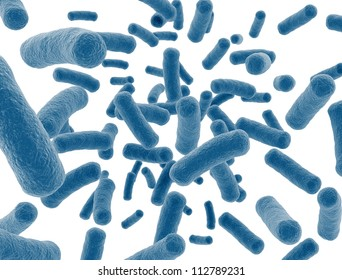 Bacteria cells isolated on white background