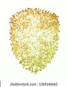 Bacteria forming a shield symbol - microbiome and probiotics concept 3D illustration.