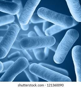 Bacteria virus under microscope - High Quality 3D Render