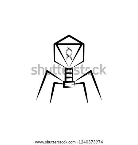 Royalty Free Stock Illustration Of Bacterial Dna Virus Icon Element