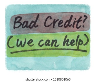 bad credit we can help