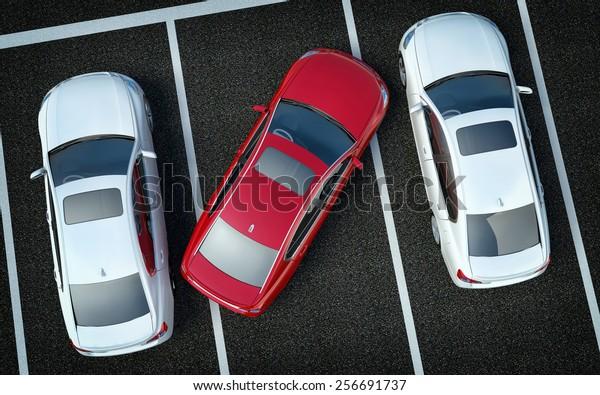 Плохой водитель на парковке