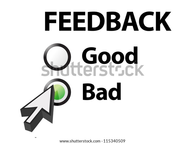 bad selected on a feedback question. Illustration design