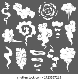 Bad smell. Smoke clouds. Steam smoke clouds of