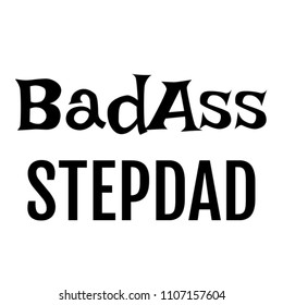 Badass Stepdad gifts For Him On Birthday Valentines Fathers Day Christmas or Special Occasion from Son Or Daughter - Customize/Personalise With Image Photo Picture Name For Step Dad - Humorous Quote