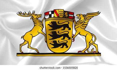 baden wuerttemberg coat of arms country symbol illustration