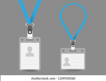 realistic template identification card personal badges stock vector