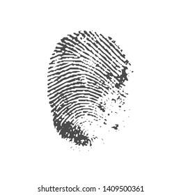Badge of a fingerprint. Textural imprint of a human finger.